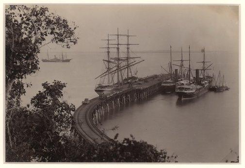 An image of Railway pier by Paul Foelsche