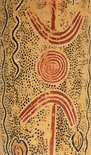 Alternate image of Wallaby and yam dreaming (Coolamon) by Billy Stockman Tjapaltjarri