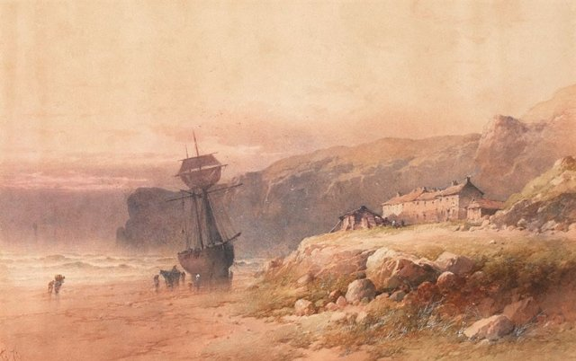 An image of On the coast of Cornwall (fishing village)