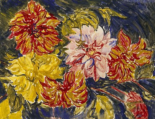 An image of Dahlias by Sir Jacob Epstein