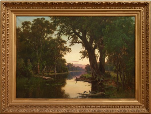 Alternate image of A billabong of the Goulburn, Victoria by Henry James Johnstone