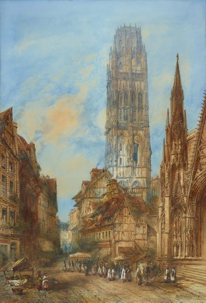 An image of The Butter Tower of Rouen Cathedral by Thomas Colman Dibdin