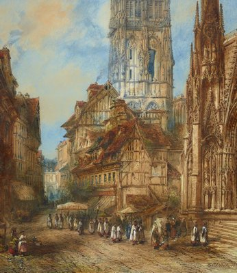 Alternate image of The Butter Tower of Rouen Cathedral by Thomas Colman Dibdin
