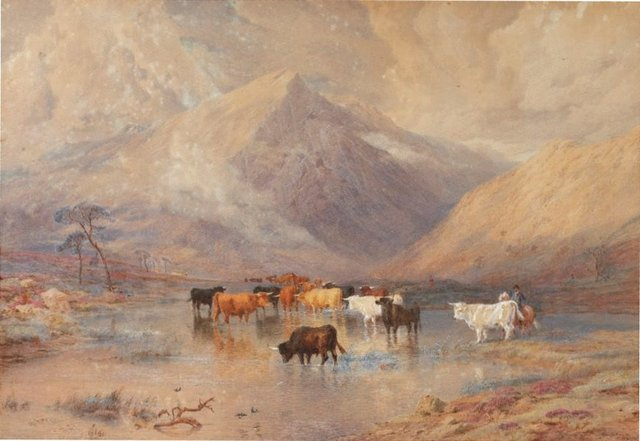 An image of Highland drovers