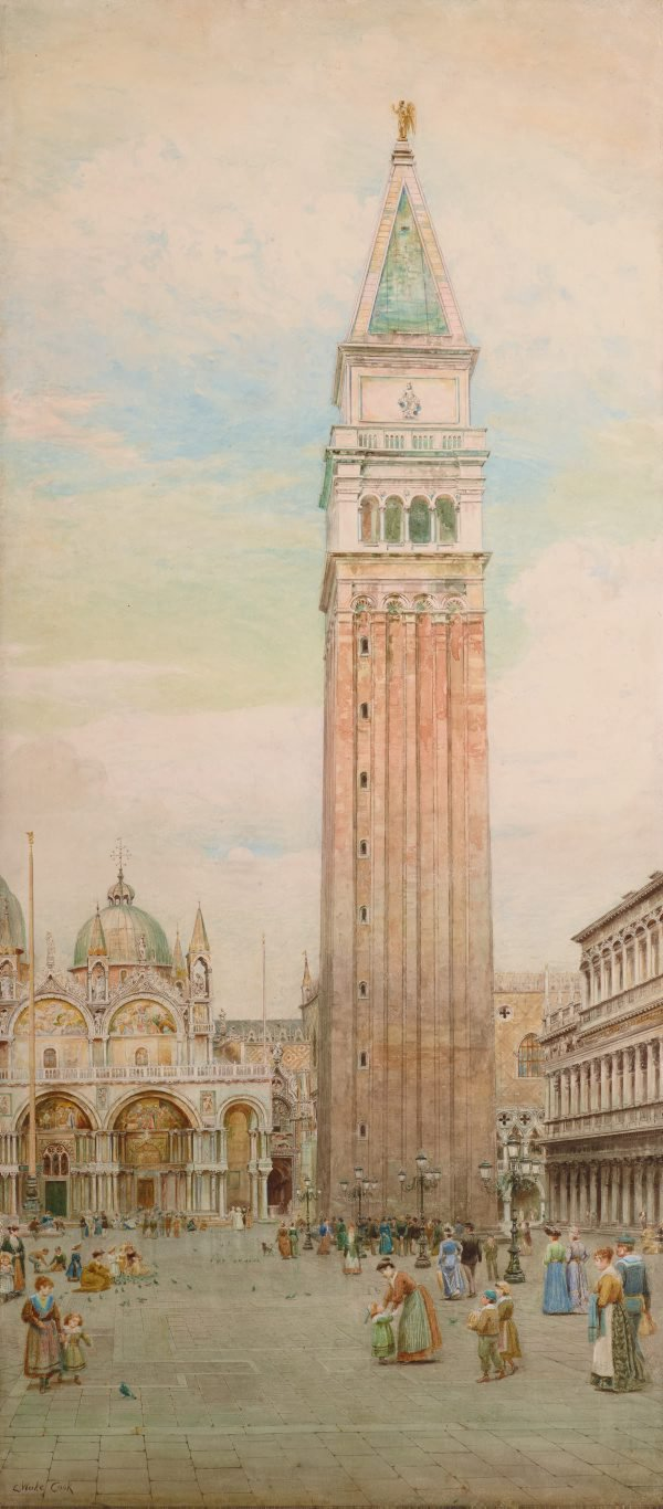 An image of Last days of the Campanile, St Mark's, Venice