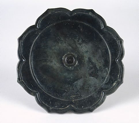 An image of Bronze mirror (foliate shape) by