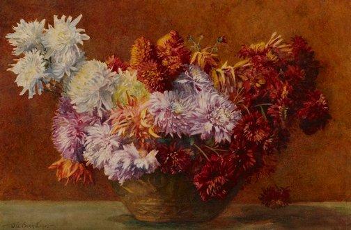 An image of Chrysanthemums by J.A. Bennett