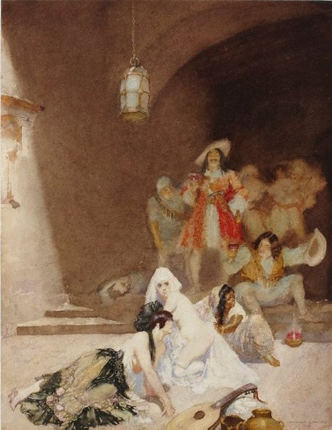 An image of Porto Bello by Norman Lindsay