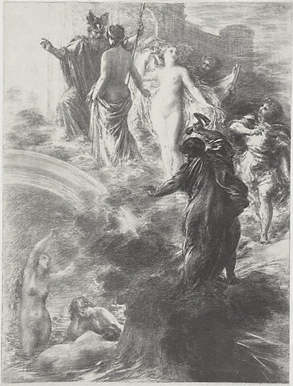 An image of The finale Rheingold by Henri Fantin-Latour