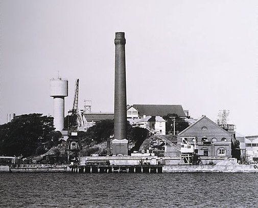 An image of Parramatta River: Cockatoo Island 1980 by Mark Johnson