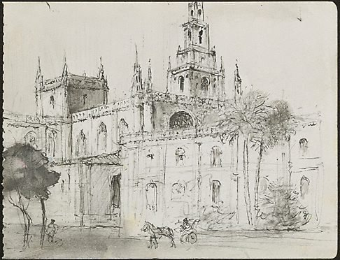 An image of Seville Cathedral by Lloyd Rees