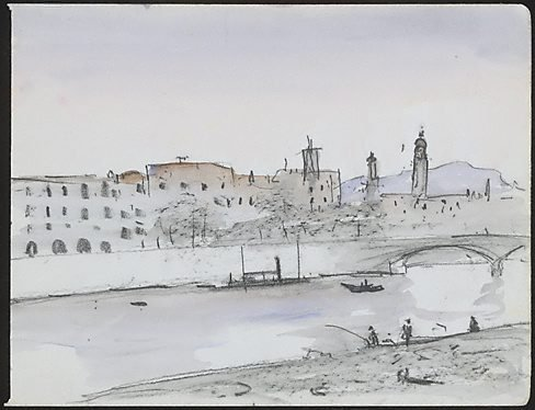 An image of The River Guadalquivir, Seville by Lloyd Rees