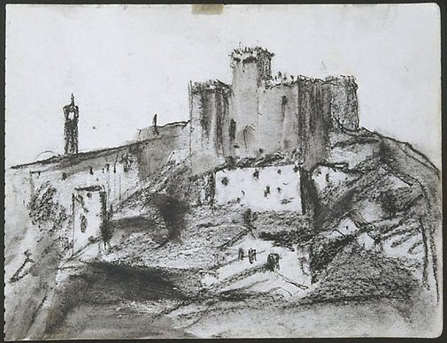 An image of Mudejar Castle, Espejo, Spain by Lloyd Rees