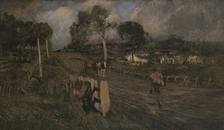 Nearing the township, (1900) by Walter Withers