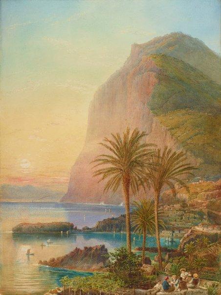 An image of Cape Girão, Madeira by Nicholas Chevalier