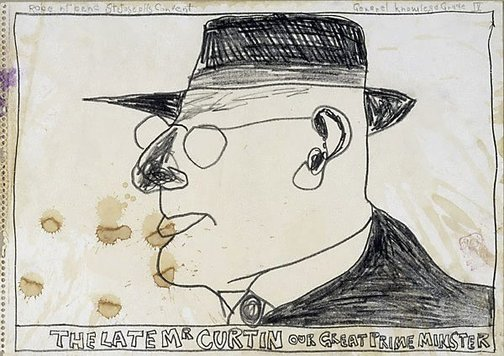 An image of Untitled (the late Mr Curtin our great Prime Minister) by Robert MacPherson