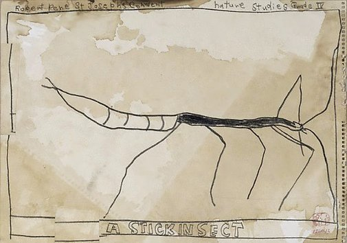 An image of Untitled (A stickinsect) by Robert MacPherson