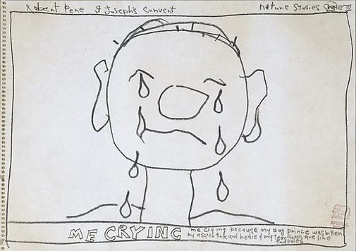 An image of Untitled (me crying) by Robert MacPherson