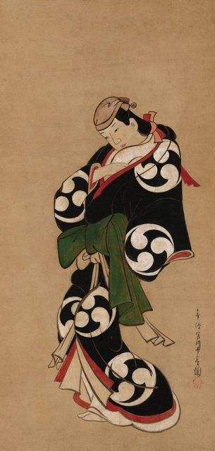 AGNSW collection Miyagawa Chôsun Standing figure of an actor (1713) 583.1987