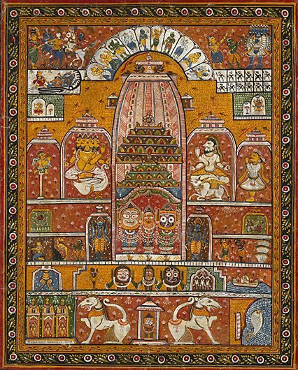 An image of Deities enshrined in the Jagannath Temple