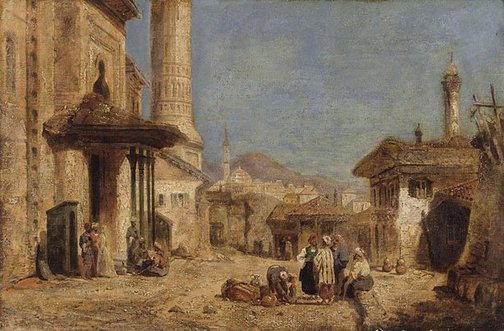 An image of A street scene, Cairo by James Webb