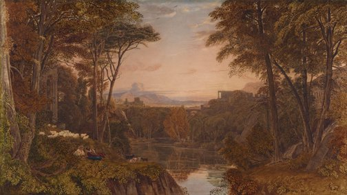 An image of Classical landscape by George Barret Jnr