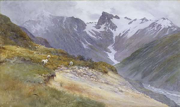 An image of Mountain pastures, Mt Cook
