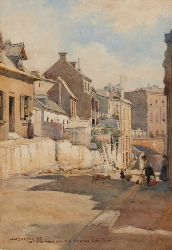 An image of Cambridge St., looking towards the Argyle Cut