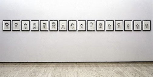 An image of 16 Untitled self portraits by Mike Parr
