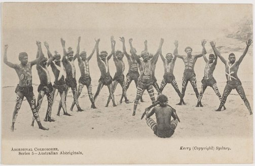 An image of Aboriginal Corroboree by Charles Kerry