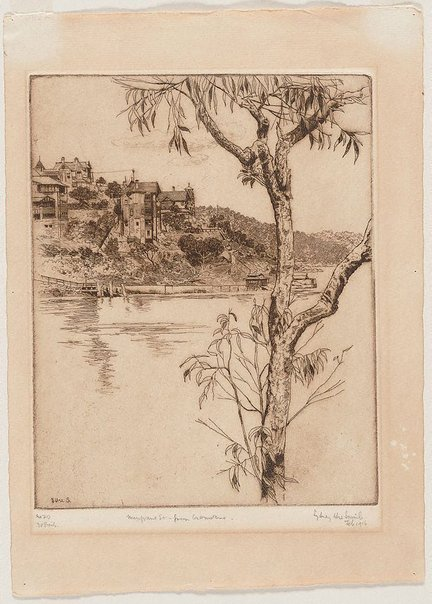 An image of Musgrave St. Mosman, from Cremorne by Sydney Ure Smith