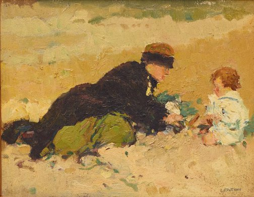 An image of On the beach by Percy Leason