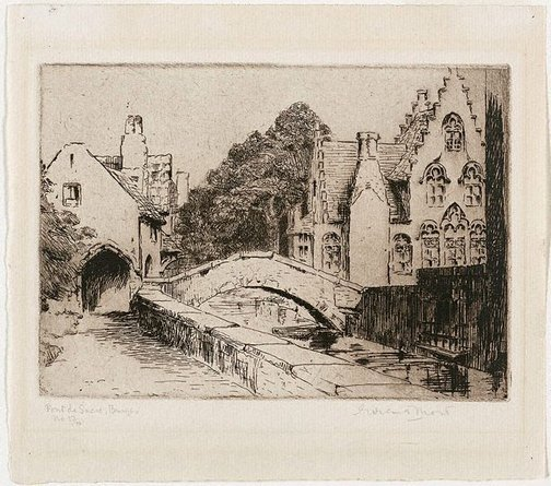 An image of Pont de Sucre, Bruges by Eirene Mort