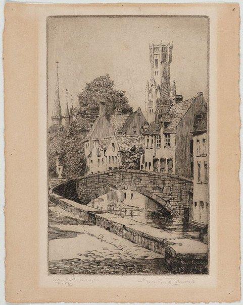 An image of Quai Vert, Bruges by Eirene Mort