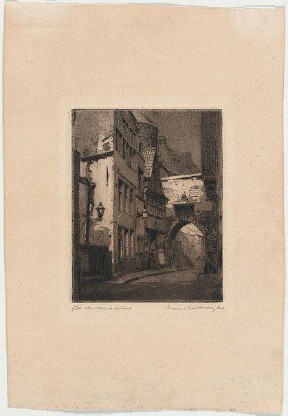 An image of An alley in Antwerp by Thomas Friedensen