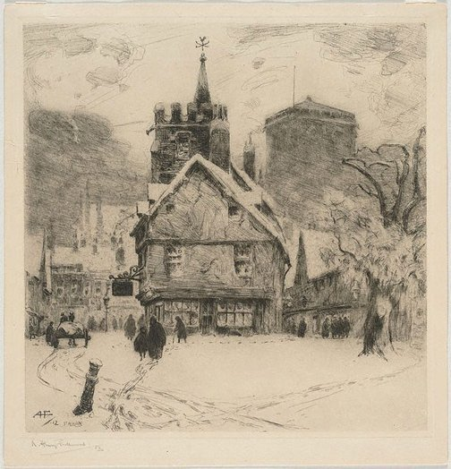 An image of St. Albans, Xmas Eve by A Henry Fullwood