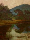 Alternate image of A waterhole on the Hawkesbury River by Julian Ashton