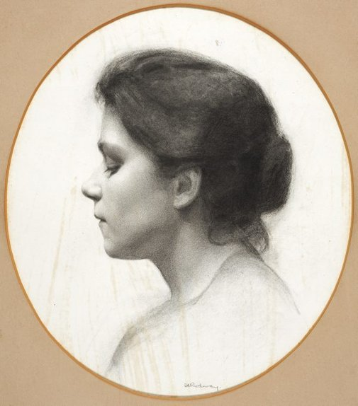 An image of (Head study) by Florence Aline Rodway