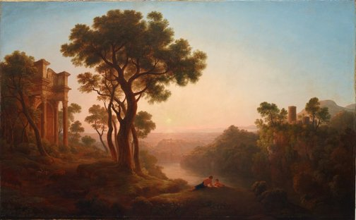 An image of Classical landscape by John Glover