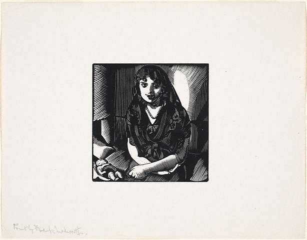 An image of Untitled (Spanish girl with doll)