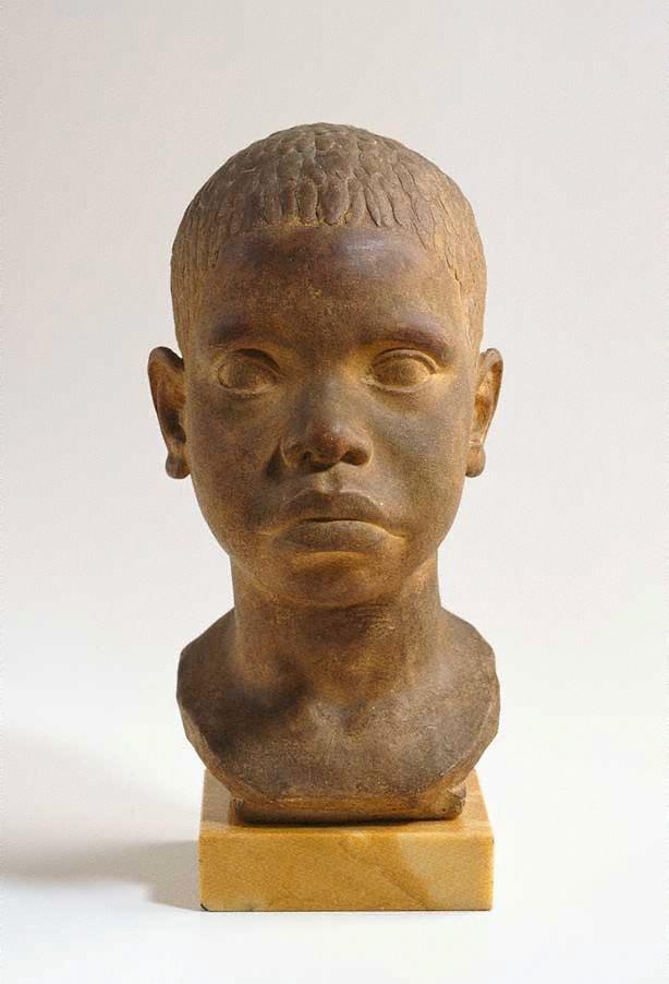 An image of Head of an Aboriginal boy