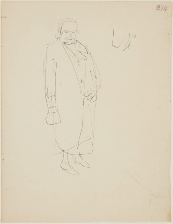 An image of (Figure study of woman) (London genre)