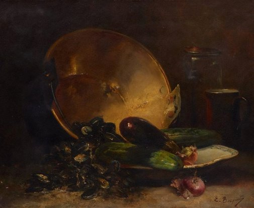 An image of Still-life by E. Bocquet