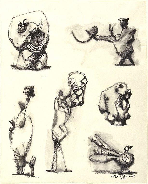An image of (Six sculptural figures)
