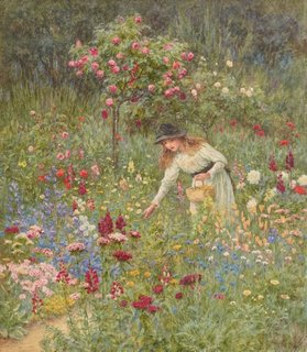 Gathering flowers, (circa 1889) by Helen Allingham