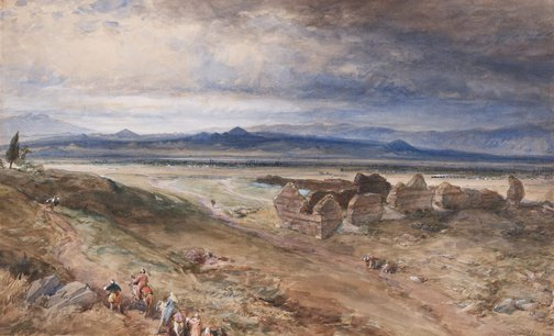 An image of Bin Tepe, Sardis by William Simpson