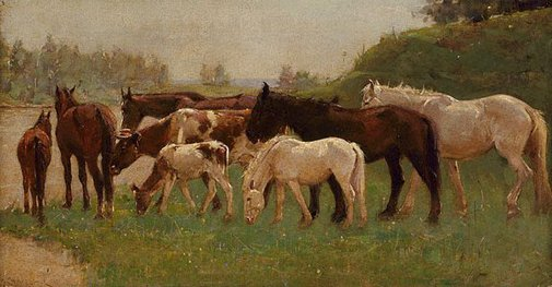 An image of Horses by Harry Garlick