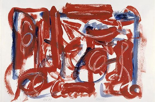 An image of Work on paper by Dick Watkins