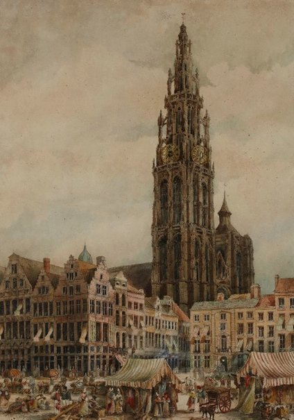 An image of Antwerp Cathedral by William Nixon