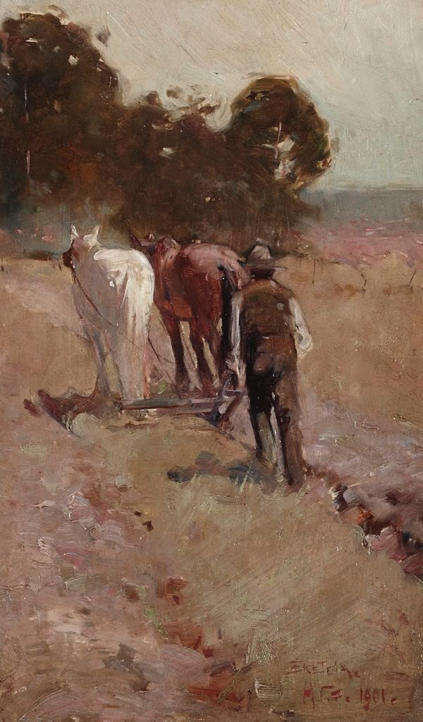An image of Ploughing the orchard